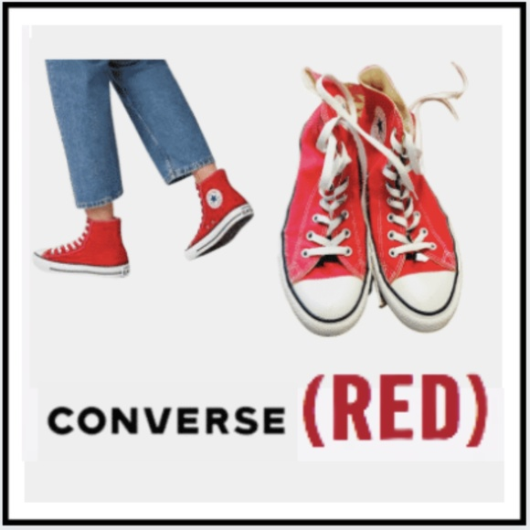 Converse (RED) PRODUCT High Top Sneakers